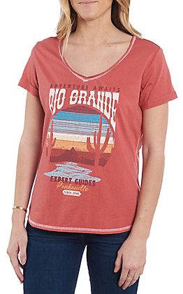 Panhandle Women's Red Rio Grande Short Sleeve Shirt