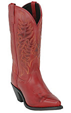Laredo Ladies Dark Red Mad Dog Snip Toe Western Boot