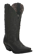 Dan Post Women's Black Wide Calf Snip Toe Western Boots