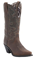 Laredo Women's Vintage Brown Wide Shaft Snip Toe Western Boots