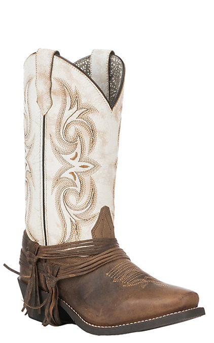 1f124cf2a7d Laredo Women's Sand and White Cowboy Square Toe Western Boots