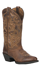 Laredo Women's Distressed Brown Maddie Round Toe Western Boots