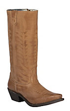 Laredo Women's Tan Goat Stovepipe Snip Toe Western Boots