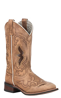 Laredo Women's Spellbound Tan Broad Square Toe Western Boots