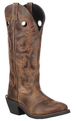 Laredo Men's Tan Hank U Toe Western Boot