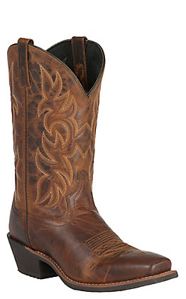 Laredo Men's Rust Punchy Square Toe Western Boots