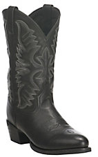 Dan Post Men's Black Round Toe Cowboy Boots