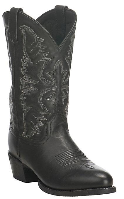 113a163640eac Laredo Men's Black Round Toe Cowboy Boots