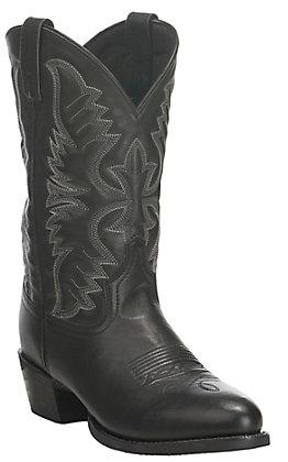 Laredo Men's Black Round Toe Cowboy Boots
