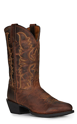 Laredo Men's Duster Tan Round Toe Cowboy Boots
