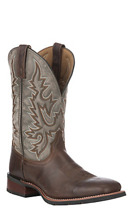 Laredo Men's Dark Brown Square Toe Western Boots