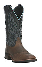 Dan Post Men's Brown with Black Upper Square Toe Western BOots