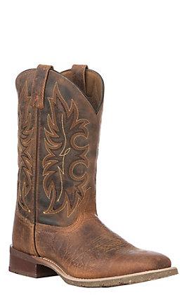 Laredo Men's Rustic Rancher Wide Square Toe Western Boots