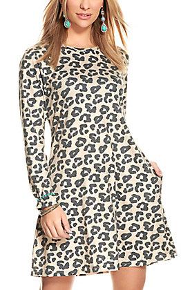 Crazy Train Women's Leopard Print Knit Dress