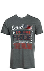 Southern Moonshine Men's Land of the Free Short Sleeve Tee Shirt
