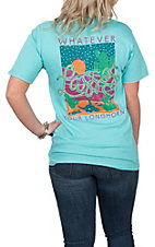 Girlie Girl Originals Women's Scuba Blue Lassos Graphic S/S T-Shirt