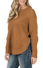 Anne French Women's Gold Button Sweater