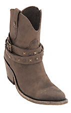 Liberty Black Women's Toccato Chocolate Distressed Harness Snip Toe Western Fashion Boots