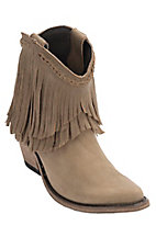 Liberty Black Women's Distressed Tan Vegas Robe Fringe Snip Toe Western Fashion Boots