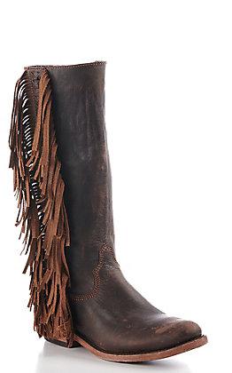 Liberty Black Women's Brown Fringe Fashion Boots