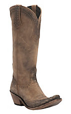 Liberty Black Women's America Tan Distressed Studded Snip Toe Western Fashion Boots