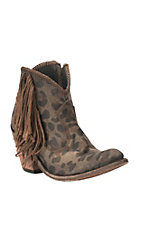 Liberty Women's Dark Brown Cheetah Print Round Toe Booties