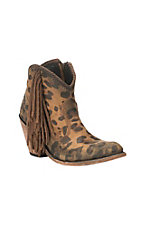 Liberty Women's Tan Cheetah Print Round Toe Booties