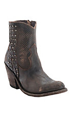 Liberty Black Ladies Chocolate Vintage Canela Embossed Round Toe Western Fashion Boots