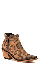 Liberty Black Women's Bovine Leather Vegas Faggio Tan Round Toe Bootie