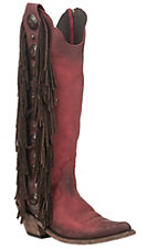 Liberty Black Women's Bovine Leather Vegas Rojo Fringe Red Round Toe Bootie