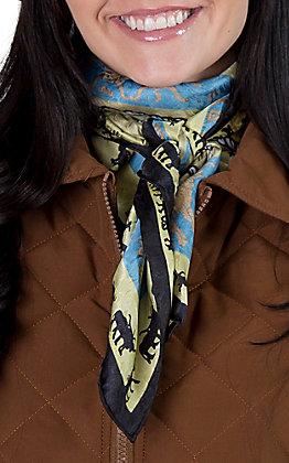 Brand Green Silk Wild Rags Scarf