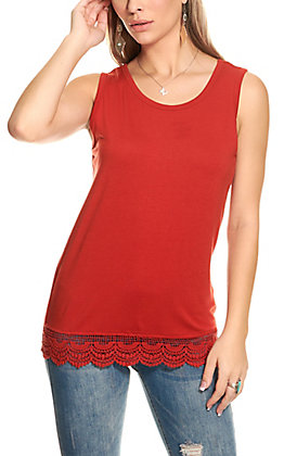 Lucky & Blessed Women's Spice with Lace Tank Top