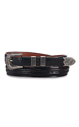 Lucchese Men's Black Cherry Goat Western Belt