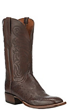 Lucchese 1883 Men's Harlem Sienna Smooth Ostrich Exotic Square Toe Boots