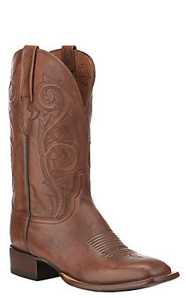 Lucchese Curtis Men's Antique Whiskey Wide Square Toe Western Boots