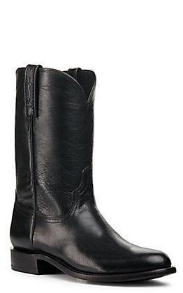 Lucchese Men's Black Shadow Goat Roper Boot