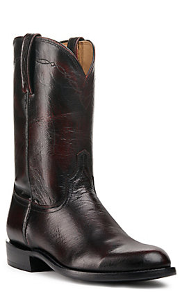 Lucchese Men's Black Cherry Shadow Goat Roper Boots