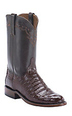 Lucchese 1883 Men's Sienna Ultra Belly Caiman Exotic Roper Boots