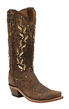 Lucchese 1883 Women's Cheetah Print Snip Toe Western Boots