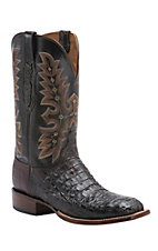 Lucchese Cowboy Collection Men's Sienna Hornback Caiman Exotic Square Toe Boots
