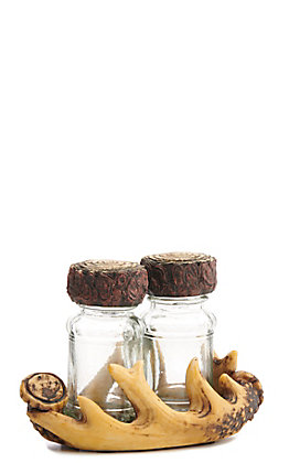 HiEnd Accents Antlers Salt & Pepper Shakers