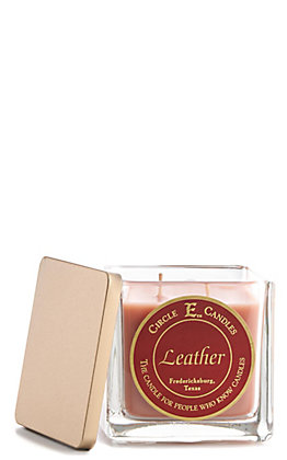 Circle E Leather 22 Oz Candle