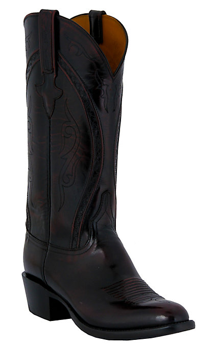 c76132d45ae Lucchese Classics Men's Black Cherry Goat Western Boots - Black Cherry