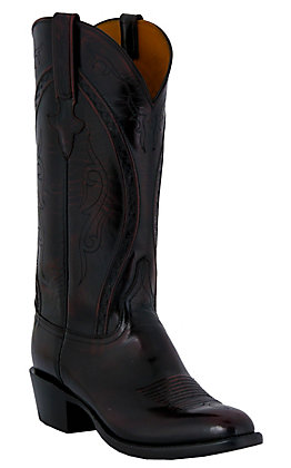 Lucchese Classics Men's Black Cherry Goat Western Boots - Black Cherry