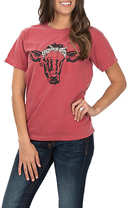 Girlie Girl Crimson Leopard Calf T-Shirt