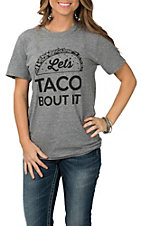 Women's Heather Grey Let's Taco Bout It Short Sleeve T-Shirt