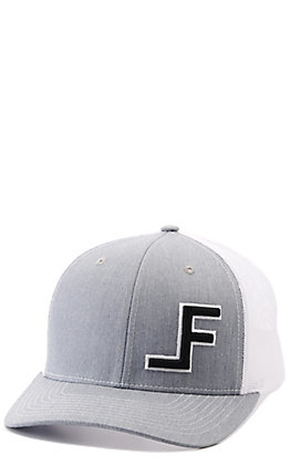 Lane Frost Wreck Grey and White with Offset Black Raised Logo Snapback Cap