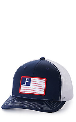 Lane Frost Freedom Navy and White with Logo Flag Patch Snapback Cap