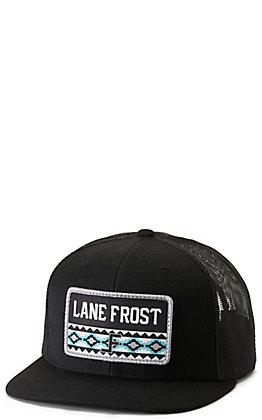 Lane Frost Hustler Black with Aztec Logo Patch Cap