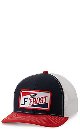 Lane Frost Truckin Navy, White and Red with Retro Patch Cap